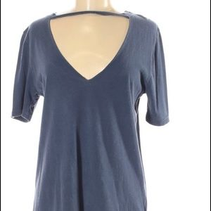 Truly madly deeply chiclet cut neck Sz S top